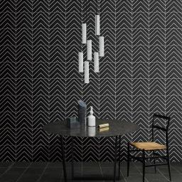 SALE!! Monoline White & Black Decor Porcelain Wall & Floor Tiles 20x20