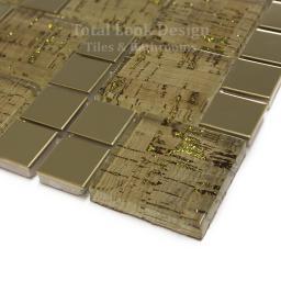 Mosaic Tiles Sheet Lithos Gold 30cm X 30cm (mos029)