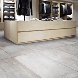 Iron White Metallic Italian Porcelain Wall & Floor Tiles