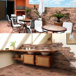 Argile Rame Bricks Effect Italian Porcelain Wall & Floor Tiles