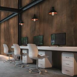 Oxi Tellurium Metallic effect Porcelain Wall & Floor Tiles SQM