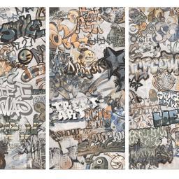 Graffiti Decor White Porcelain Wall & Floor Tiles