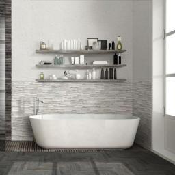 Samurai White Wood Effect Brick Italian Porcelain Wall & Floor Tiles 7.5cm x 38.5cm