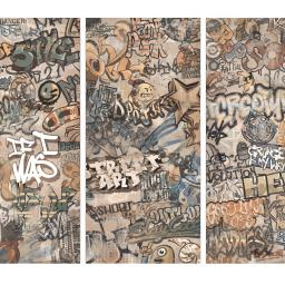 Graffiti Decor Beige Porcelain Wall & Floor Tiles