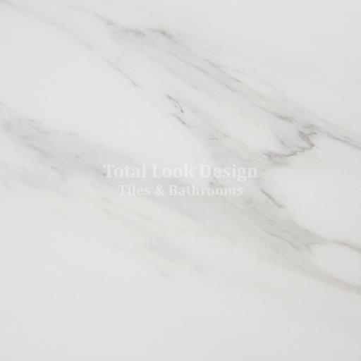 SALE!! Marble White Polished Stone Effect Italian Porcelain Wall & Floor Tiles 60cm X 60cm