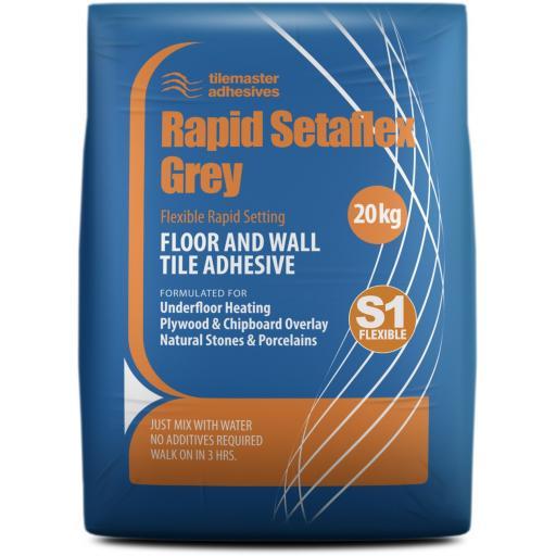 Tilemaster Rapid Setaflex S1 Grey Tile Adhesive 20kg