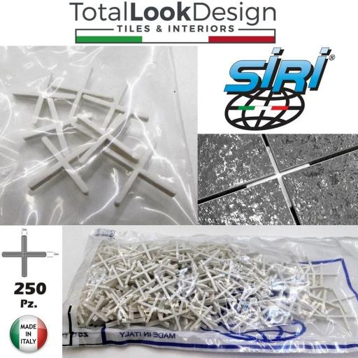 2mm Siri Italy Tile Cross Spacers for Floor and Walls 250 Pack