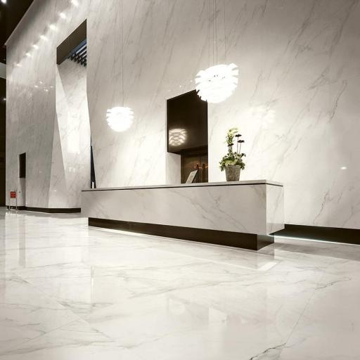 Large Format Calacatta Porcelain Wall & Floor Slabs Tiles
