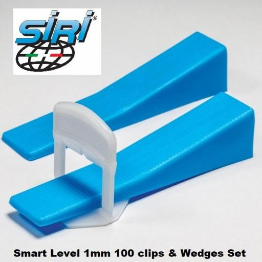 1mm Tile Spacers Smart Level System For Floors And Walls Clips And Wedges