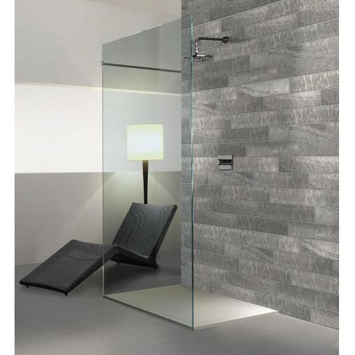 Minerli Zinco Grey Brick Italian Porcelain Wall & Floor Tiles