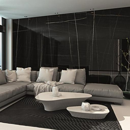 Large Format Noir Porcelain Wall & Floor Slabs Tiles