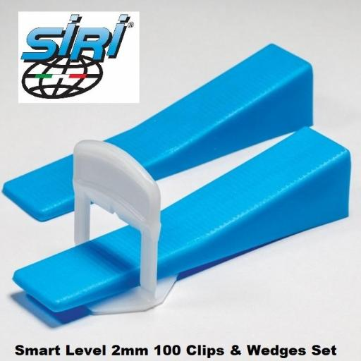 2mm Tile Spacers Smart Level System For Floors And Walls Clips And Wedges
