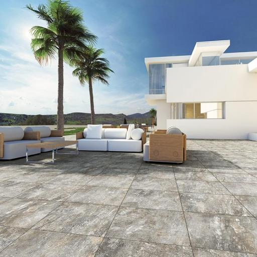 Outdoor Slabs Reno Grigio Patio Tiles 20mm / 60 x 60 cm