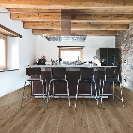 Chero Moro Wood Effect Indoor/Outdoor Italian Porcelain Wall & Floor Tiles 120 x 20 cm