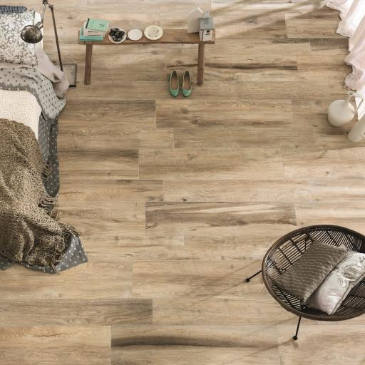 Wood Cognac Wood Effect Porcelain Italian Tiles For Wall & Floors