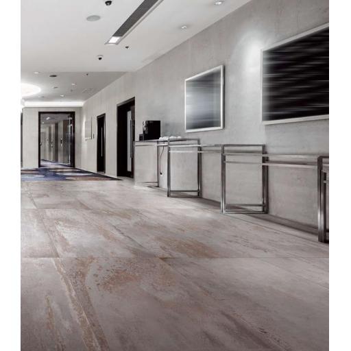Metal Silver Metallic Italian Porcelain Wall & Floor Tiles 30.8 x 61.5 cm
