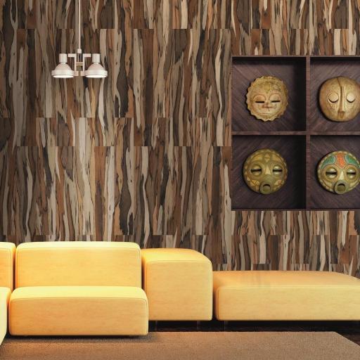 Savanna Coffee Polished Wood Effect Italian Porcelain Wall & Floor Tiles