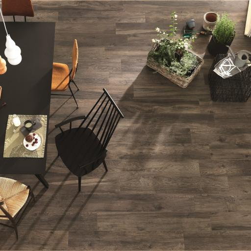 Wood Tobacco Wood Effect Italian Porcelain Wall & Floor Tiles