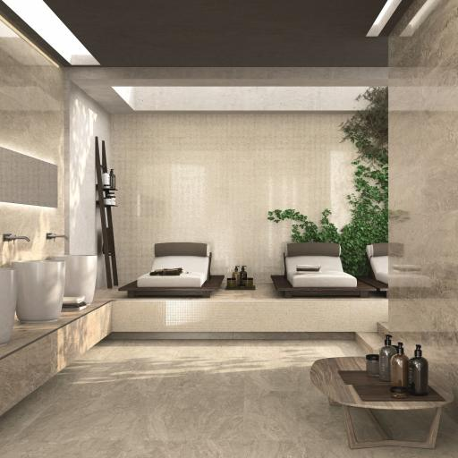 Imp Crema Polished Porcelain Rectified Wall & Floor Tiles