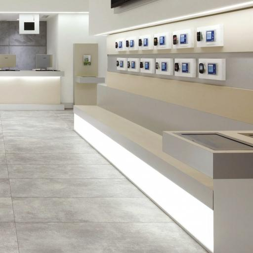 Spray Grey Concrete Effect Italian Porcelain Wall & Floor Tiles 61.5 x 61.5 cm