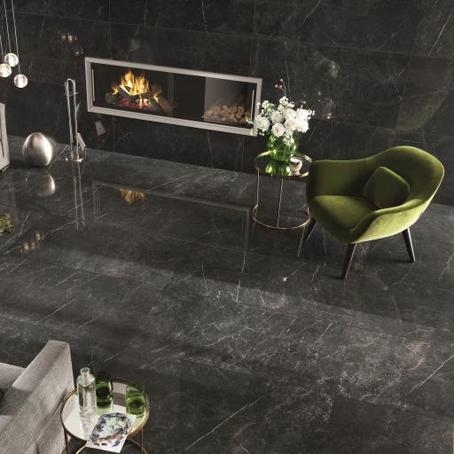 Imp Nero Imperiale Polished Porcelain Rectified Wall & Floor Tiles