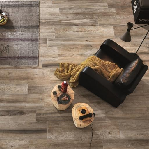 Wood Cinnamon Wood Effect Porcelain Italian Tiles For Walls & Floors