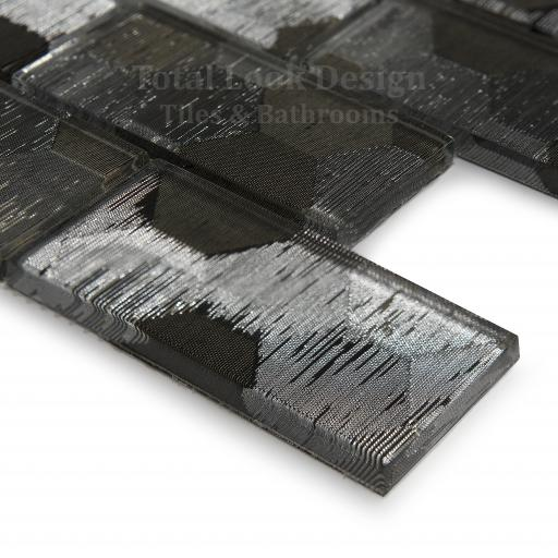 Mosaic Tiles Sheet Elegance Silver 30cm X 30cm