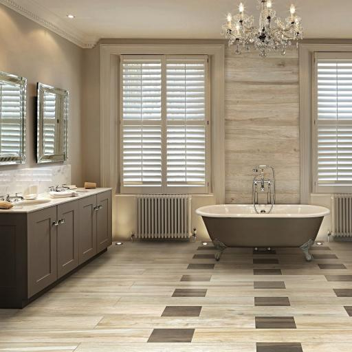 Wood Bamboo Wood Effect Italian Porcelain Wall & Floor Tiles