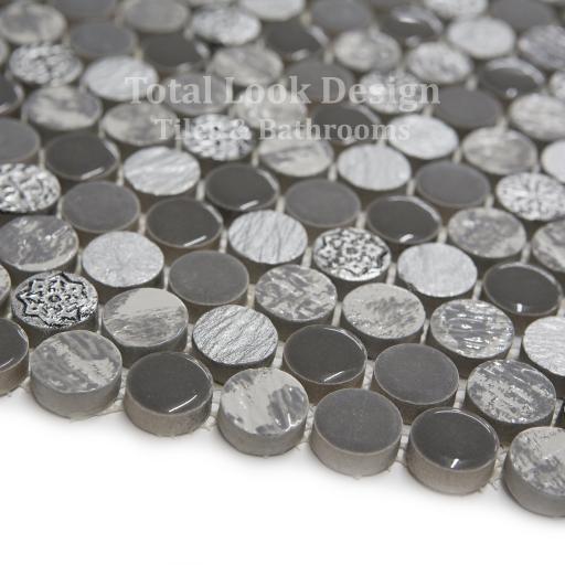 Mosaic Tiles Sheet Soul Grey 30cm X 30cm