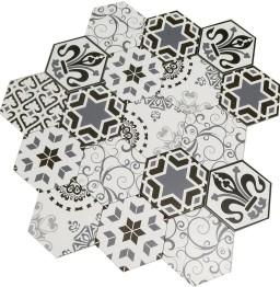 SALE!! Hexagon Mix Decor Porcelain Wall & Floor Tiles 20x23