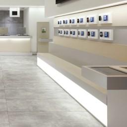 Lemur Spray Grey Concrete Effect Italian Porcelain Wall & Floor Tiles 61.5 cm x 61.5 cm