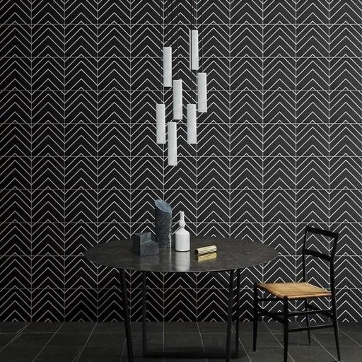 SALE!! Monoline White & Black Decor Porcelain Wall & Floor Tiles 20x20
