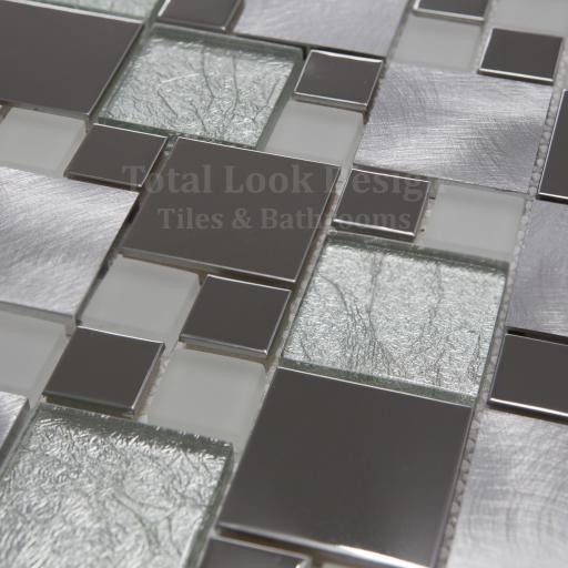 Mosaic Tiles Sheet Onyx White 30 cm X 30 cm