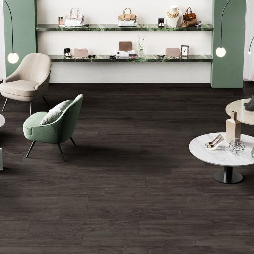 Signum Ebony Wood Effect Italian Porcelain Wall & Floor Tiles