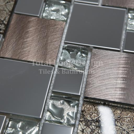 Mosaic Tiles Sheet Onyx Bronze 30 cm X 30 cm