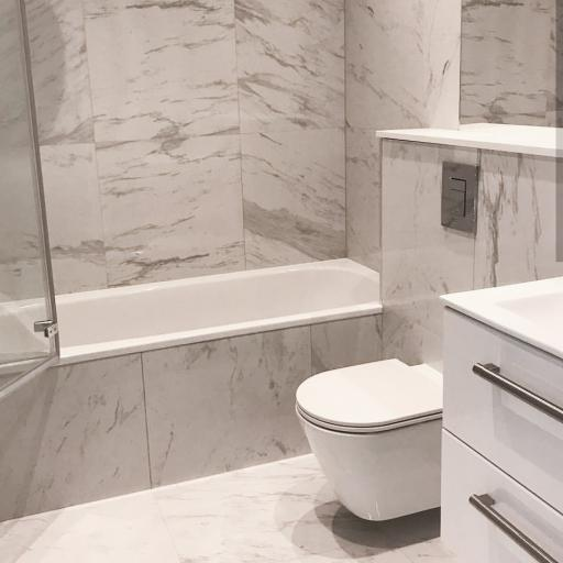 Marble White Polished Stone Effect Italian Porcelain Wall & Floor Tiles 60 x 60 cm