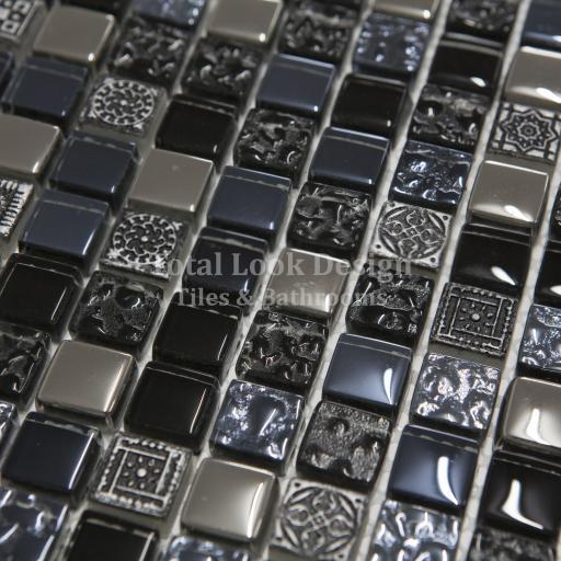 Mosaic Tiles Sheet Arctic Vintage Blue 30cm X 30cm