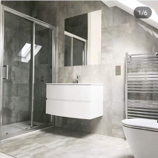 Marble Grey Polished Stone Effect Italian Porcelain Wall & Floor Tiles 60 x 60 cm