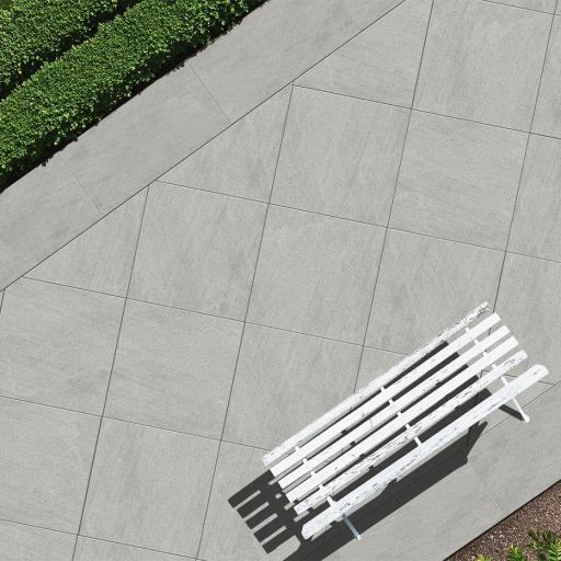 Outdoor Slabs Basaltina Grey Patio Tiles 20mm / 60 x 60 cm