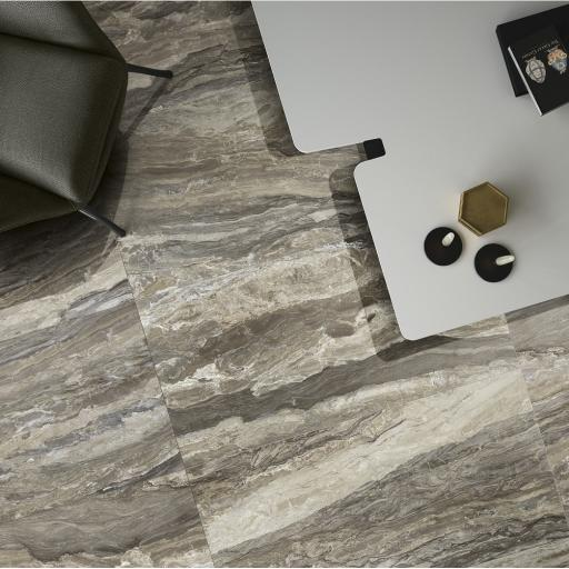 Mainstone Taupe Marble Effect Porcelain Rectified Wall & Floor Tiles