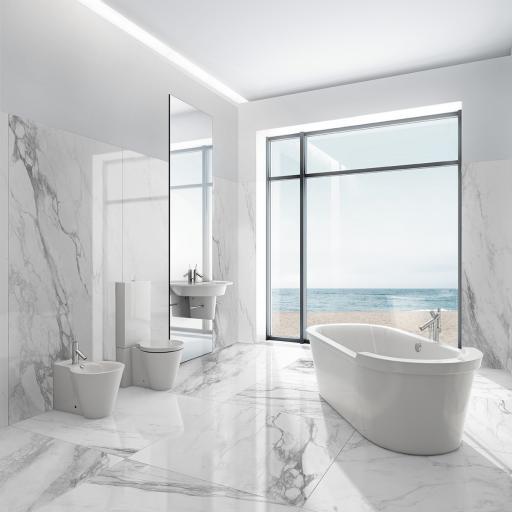Bernini Polished Marble Effect Porcelain Wall & Floor Tiles
