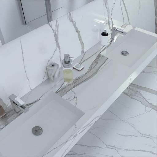 Statuario Imperiale Marble Effect Porcelain Rectified Wall & Floor Tiles