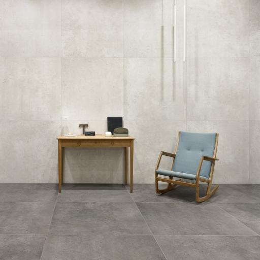 District White Limestone Effect Porcelain Rectified Wall & Floor Tiles