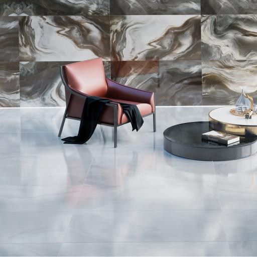 Watercolor Grey Polished Porcelain Wall & Floor Tiles