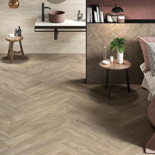 Signum Oak Wood Effect Italian Porcelain Wall & Floor Tiles