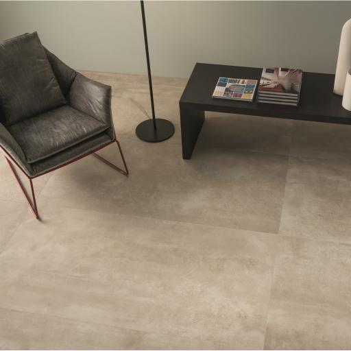 Urban Beige Concrete Effect Porcelain Rectified Wall & Floor Tiles