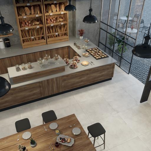 City Bianco Concrete Effect Porcelain Rectified Wall & Floor Tiles