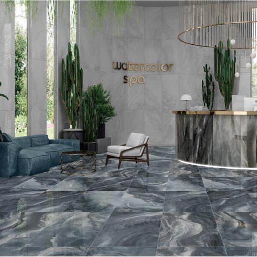 Watercolor Marine Polished Porcelain Wall & Floor Tiles