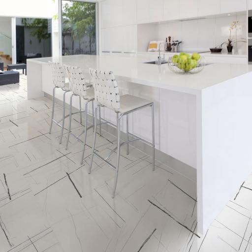 Sahara Noir White Porcelain Rectified Wall & Floor Tiles