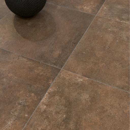 District Rust Limestone Effect Porcelain Rectified Wall & Floor Tiles